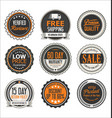 badges retro vintage design collection vector image
