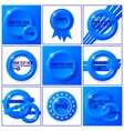 Blue abstract set of backgrounds for your design vector image