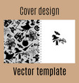 cover design with halloween pattern vector image