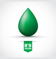green water droplet vector image
