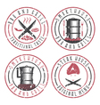 grunge set of BBQ steakhouse and smokehouse vector image