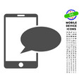 phone message icon with set vector image