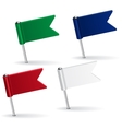 Set of pin icon flags vector image