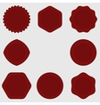 Set of Stamps Red Stamps Texture Post Stamp vector image