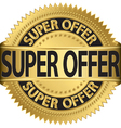 Super offer golden label vector image