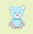 sweet bear like a toy vector image