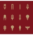 The light bulb icon set of 12 icons Lamp and vector image