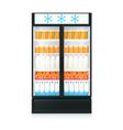Freezer Realistic Template vector image