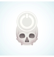 turn off the skull vector image