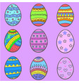 set of easter egg various style vector image