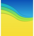 Colorful wavy background vector image