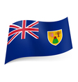 Flag of Turks and Caicos Islands vector image