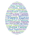 Easter egg made from Happy Easter in 12 different vector image