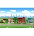 House background with cityscape behind Vector Image