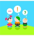 Children and their thoughts Color 1 vector image