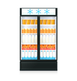 Freezer Realistic Template vector image