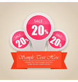 Hot Sale Tag Background vector image