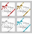 merry christmas cards vector image