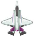 Modern design of fighting jet vector image