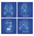 robot arms line art design vector image