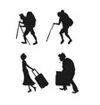 silhouette pictograms of people on the rest vector image