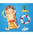 Water fun - boy vector image