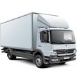 White box truck vector image