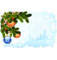 Grungy Christmas Card vector image