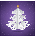 Paper origami christmas tree vector image vector image