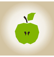 Apple broken vector image vector image