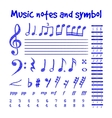 Handwritten musical notes vector image