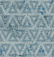 Vintage geometric seamless pattern old repeat vector image