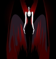 girl with dark wings vector image