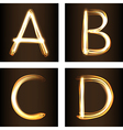 A B C D vector image vector image