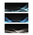 abstract web banner vector image