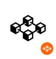 blockchain icon block chain technology symbol vector image
