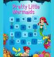 boardgame template with mermaid in the ocean vector image