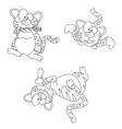 Cartoon tigers vector image