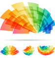 colorful set abstract element isolated on white vector image