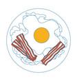 egg breakfast gourmet vector image