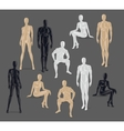 Isolated Mannequins vector image