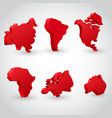 red continent set vector image