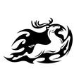 Tribal deer vector image