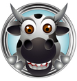 cute cow head cartoon vector image vector image