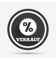 Verkauf - Sale in German sign icon Star vector image