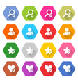 Flat addition icon hexagon web button vector image