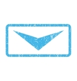 Arrowhead Down Icon Rubber Stamp vector image