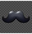 Black glossy mustache vector image