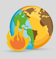 forest fire icon image vector image