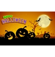 Jack-o-lantern Pumpkin in Halloween night vector image vector image